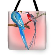 Playing Footsie Tote Bag by Miki De Goodaboom