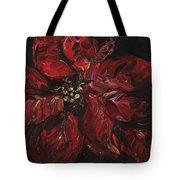Poinsettia Tote Bag by Nadine Rippelmeyer