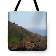 Point Sur Lighthouse Ca  Tote Bag by Christine Till