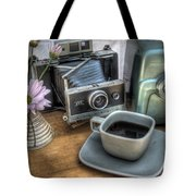 Polaroid perceptions Tote Bag by Jane Linders