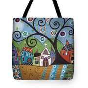 Polkadot Church Tote Bag by Karla Gerard