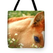 Pony In The Poppies Tote Bag by Tom Mc Nemar