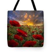Poppy Field Tote Bag by Debra and Dave Vanderlaan