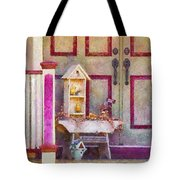 Porch - Cranford NJ - The birdhouse collector Tote Bag by Mike Savad