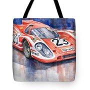 Porsche 917k Winning Le Mans 1970 Tote Bag by Yuriy  Shevchuk
