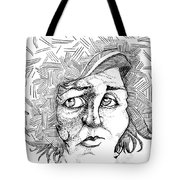 Portait Of A Woman Tote Bag by Michelle Calkins