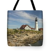 Portland Head Lighthouse Tote Bag by Mike McGlothlen