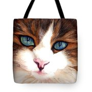 Portrait Of A Cat Tote Bag by Janine Riley