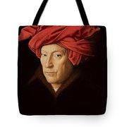Portrait Of A Man Tote Bag by Jan Van Eyck