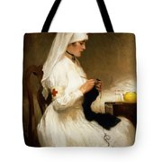 Portrait Of A Nurse From The Red Cross Tote Bag by Gabriel Emile Niscolet