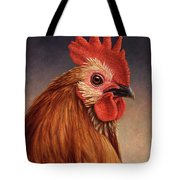 Portrait of a Rooster Tote Bag by James W Johnson