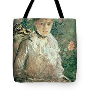 Portrait Of A Young Lady Tote Bag by Berthe Morisot