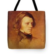 Portrait Of Alfred Lord Tennyson Tote Bag by Samuel Laurence