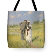 Portrait Of Captain William Holmes And Mary Shafter Mckitterick Tote Bag by American School