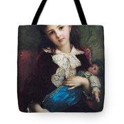 Portrait Of Catherine Du Bouchage Tote Bag by Antoine Auguste Ernest Hebert