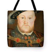 Portrait Of Henry Viii Tote Bag by English School