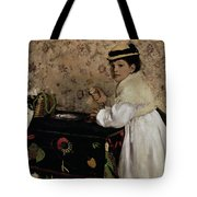 Portrait Of Hortense Valpincon As A Child Tote Bag by Edgar Degas