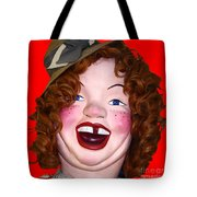 Portrait Of Laffing Sal - Square - 7d14361 - Red Tote Bag by Wingsdomain Art and Photography