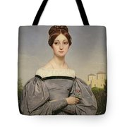 Portrait Of Louise Vernet Tote Bag by Emile Jean Horace Vernet