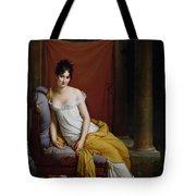 Portrait Of Madame Recamier Tote Bag by Francois Pascal Simon Gerard