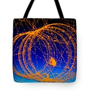 Positron Track Tote Bag by Photo Researchers
