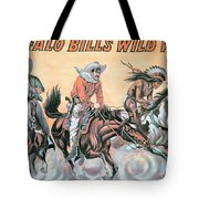 Poster For Buffalo Bill's Wild West Show Tote Bag by American School