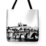 Prague castle and Charles bridge Tote Bag by Michal Boubin