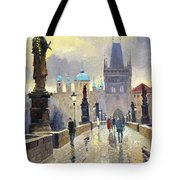 Prague Charles Bridge 02 Tote Bag by Yuriy  Shevchuk