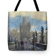 Prague Charles Bridge 06 Tote Bag by Yuriy  Shevchuk