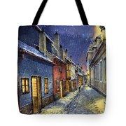 Prague Golden Line Winter Tote Bag by Yuriy  Shevchuk