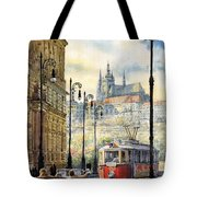 Prague Kaprova Street Tote Bag by Yuriy  Shevchuk