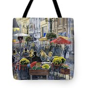 Prague Mustek First Heat Tote Bag by Yuriy  Shevchuk