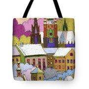 Prague Old Roofs Prague Castle Winter Tote Bag by Yuriy  Shevchuk