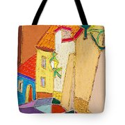 Prague Old Street Ceminska Novy Svet Tote Bag by Yuriy  Shevchuk
