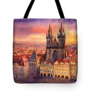 Prague Old Town Square 02 Tote Bag by Yuriy  Shevchuk