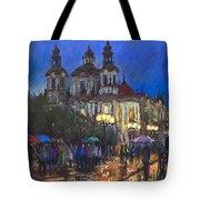 Prague Old Town Square St Nikolas Ch Tote Bag by Yuriy  Shevchuk