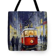 Prague Old Tram 06 Tote Bag by Yuriy  Shevchuk