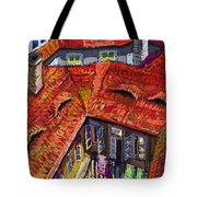 Prague Roofs 01 Tote Bag by Yuriy  Shevchuk