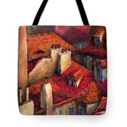 Prague Roofs Tote Bag by Yuriy  Shevchuk