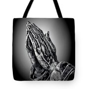 Praying Hands Tote Bag by Ronald Chambers