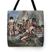 Prehistoric man tools tote bag by granger