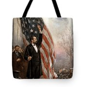 President Abraham Lincoln Giving A Speech Tote Bag by War Is Hell Store