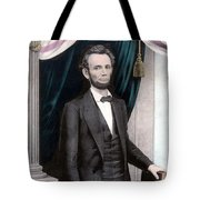 President Abraham Lincoln In Color Tote Bag by War Is Hell Store