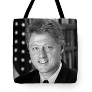 President Bill Clinton Tote Bag by War Is Hell Store