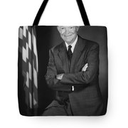 President Eisenhower And The U.s. Flag Tote Bag by War Is Hell Store