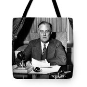 President Franklin Roosevelt Tote Bag by War Is Hell Store