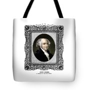 President John Adams Portrait  Tote Bag by War Is Hell Store