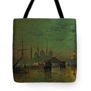 Prince's Dock Hull Tote Bag by John Atkinson Grimshaw
