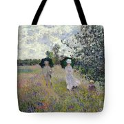 Promenade Near Argenteuil Tote Bag by Claude Monet