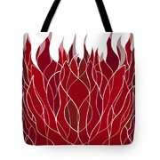 Psychedelic flames Tote Bag by Frank Tschakert